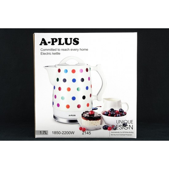 Електрочайник керамічний 1.7 л A-Plus AP-2145